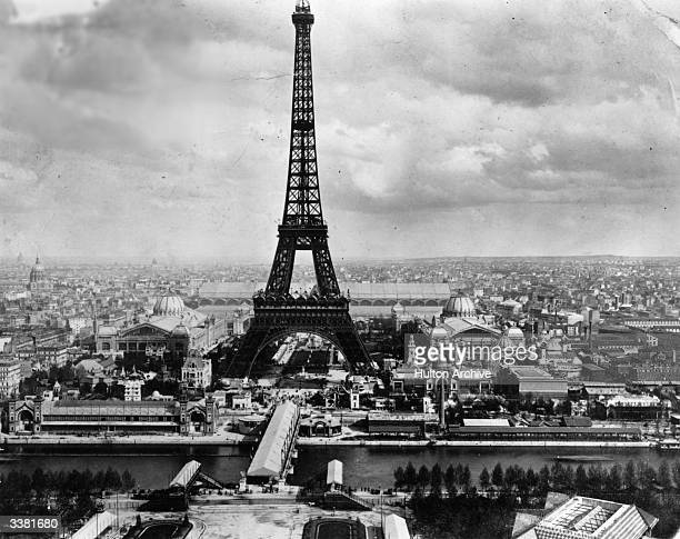 The Eiffel Tower built by Alexandre Gustave Eiffel for the Exposition Universelle or World Fair of 1889 in Paris