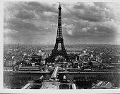 The Eiffel Tower dominates the Paris sky line in this view of the 1889 Paris Exposition