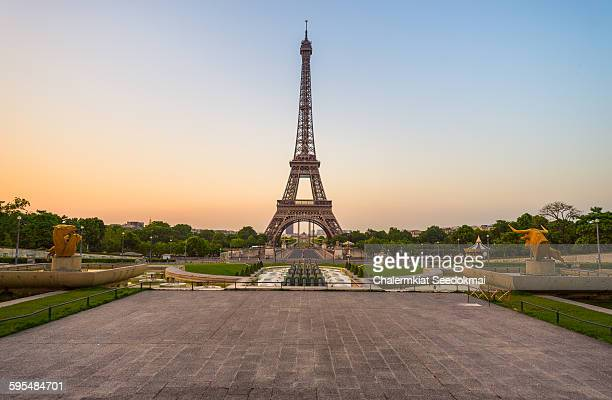 The Eiffel Tower in the early morning