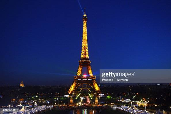 The Eiffel Tower is lit up in tribute to former South African President Nelson Mandela on December 15 in Paris France Mr Mandela passed away on the...