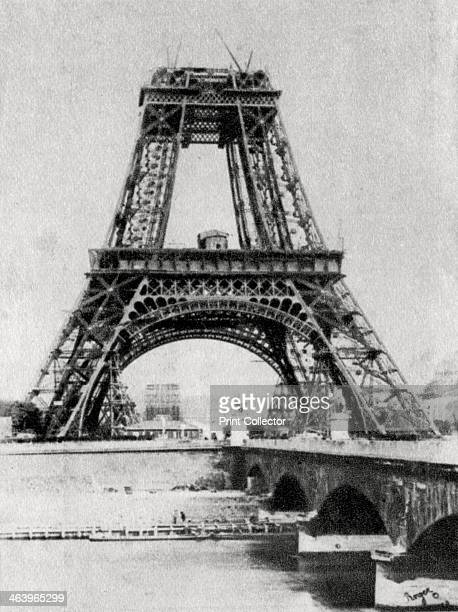 The Eiffel Tower under construction Paris c1888 Designed by the French civil engineer Gustave Eiffel the Eiffel Tower was built for the International...