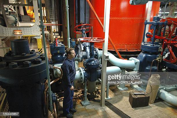 The Eiffel Tower Unveils Its Backstages In Paris France On October 14 2008 The underground room where is stored the whole hydropressure system which...