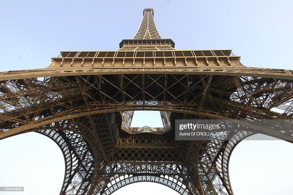 The Eiffel Tower Unveils Its Backstages In Paris, France On October 16, 2008 - a viwe from above the Eiffel Tower.