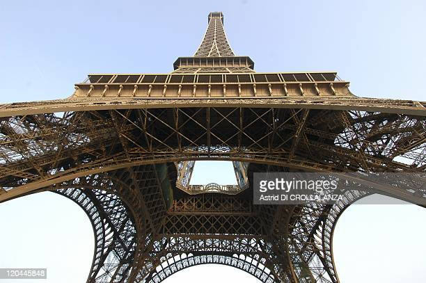 The Eiffel Tower Unveils Its Backstages In Paris France On October 16 2008 a viwe from above the Eiffel Tower