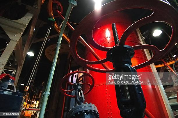 The Eiffel Tower Unveils Its Backstages In Paris France On October 16 2008 The underground room where is stored the whole hydropressure system which...