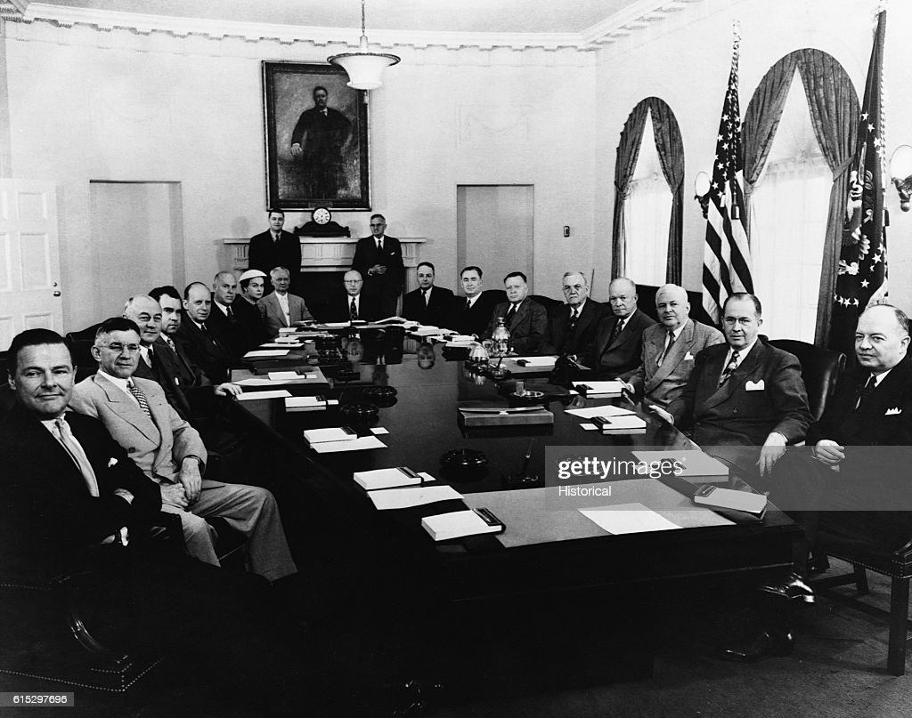 Nixon Administration Cabinet The Eisenhower Administration Cabinet Eisenhower Is Fourth From