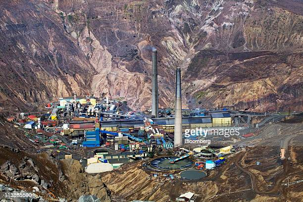 The El Teniente copper mine and processing plant owned and operated by Corporacion Nacional del Cobre de Chile stands near Rancagua Chile on Friday...
