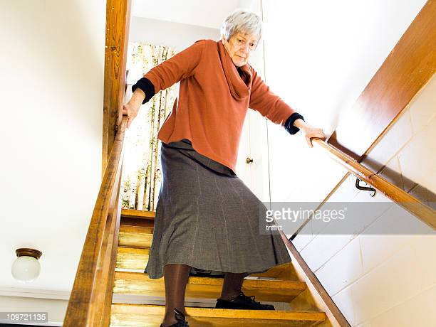 The Elderly and Stairs: Descending