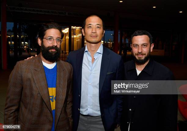 The Elderstateman founder Greg Chait entrepreneur Clement Kwan and Magasin owner Josh Peskowitz attend an intimate dinner to celebrate The Business...