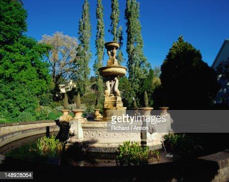 The elegant fountain in the Launceston Botanical Gardens.