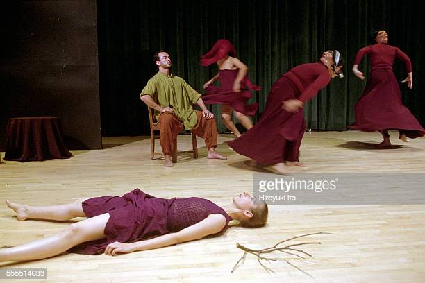 The Eleo Pomare Dance Company performed 'Aridez' at the 92nd Street Y Harkness Dance Center on October 20 2002This imageColumbine Macher lying and...