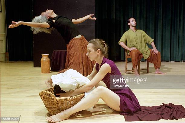 The Eleo Pomare Dance Company performed 'Aridez' at the 92nd Street Y Harkness Dance Center on October 20 2002This imageFrom left Kathy M Thomas...