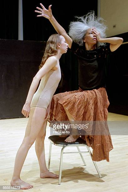 The Eleo Pomare Dance Company performed 'Aridez' at the 92nd Street Y Harkness Dance Center on October 20 2002This imageFrom left Columbine Macher...