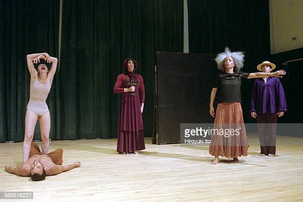 The Eleo Pomare Dance Company performed 'Aridez' at the 92nd Street Y Harkness Dance Center on October 20 2002This imageColumbine Macher on top of...