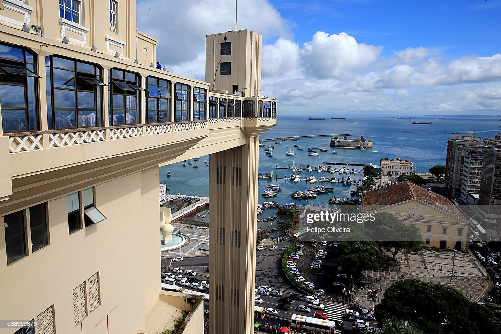 The Elevador Lacerda, on May 24, 2016 in Salvador, Brazil.