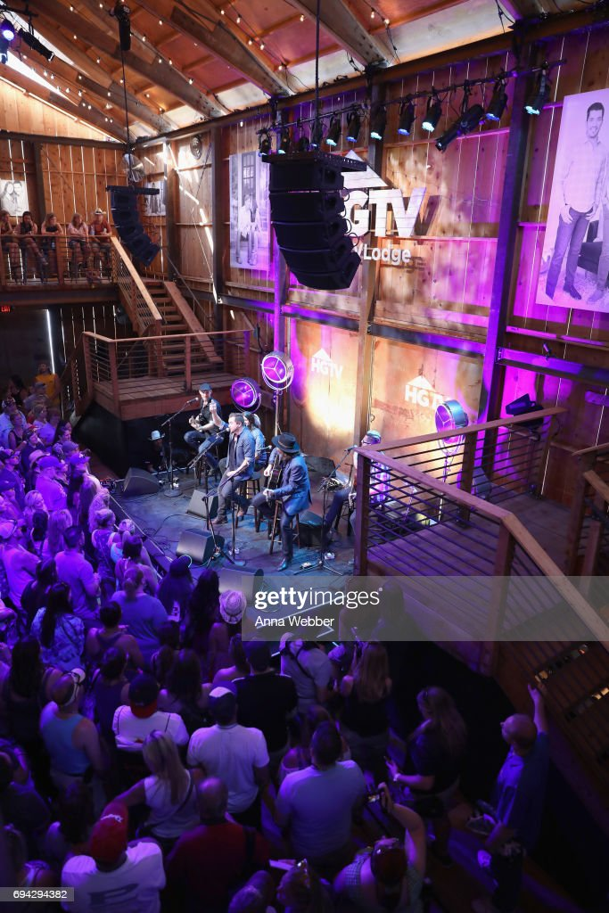 The Eli Young band performs onstage at the HGTV Lodge during CMA Music Fest on June 9, 2017 in Nashville, Tennessee.
