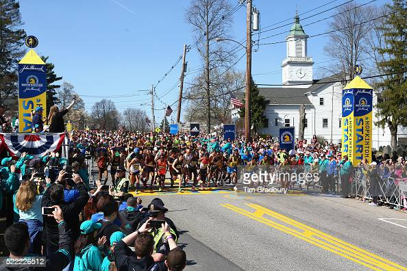 The Elite Men's division starts the 120th Boston Marathon on April 18 ...