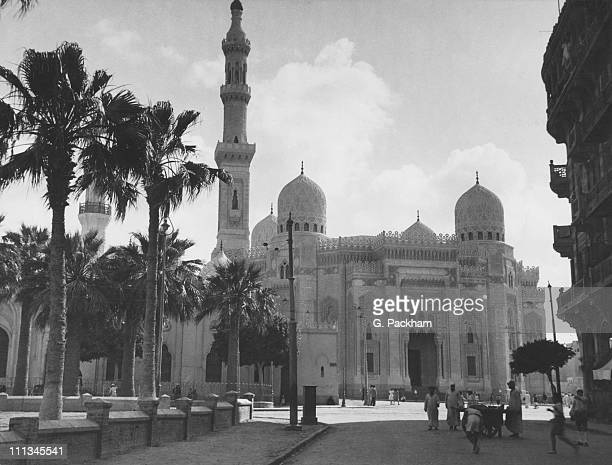 The ElMursi Abul Abbas Mosque in the Anfoushi district of Alexandria Egypt 1944 The mosque was built in 1775