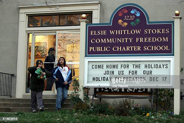The Elsie Whitlow Stokes Community Freedom Public Charter School is seen December 15 2004 in the Mount Pleasant/Columbia Heights neighborhood of...