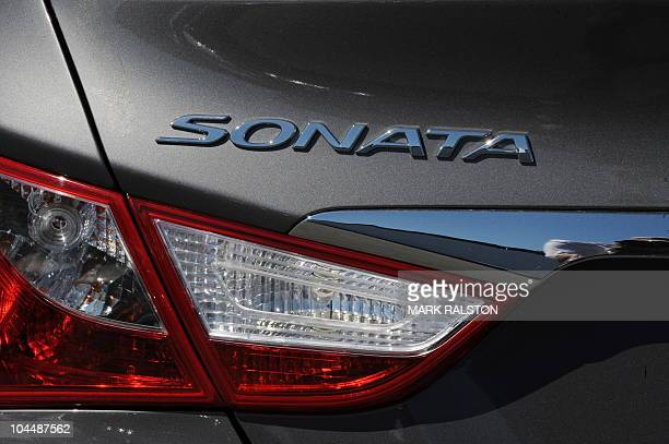 The emblem on a 2011 Sonata sedan at a Hyundai dealership in Los Angeles on September 27 2010 South Korea's top automaker Hyundai Motor is recalling...