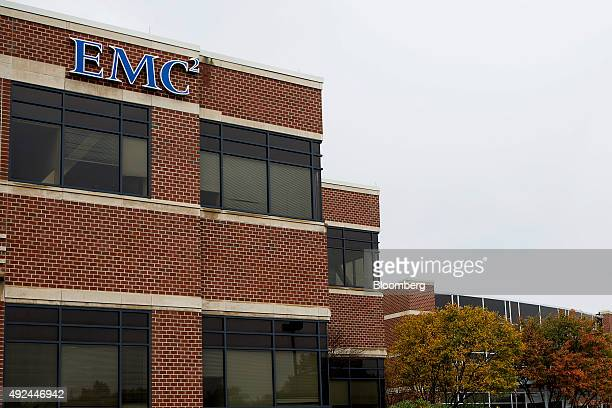 The EMC Corp headquarters building stands in Hopkinton Massachusetts US on Tuesday Oct 13 2015 Dell Inc's $67 billion buyout of EMC Corp is shaping...