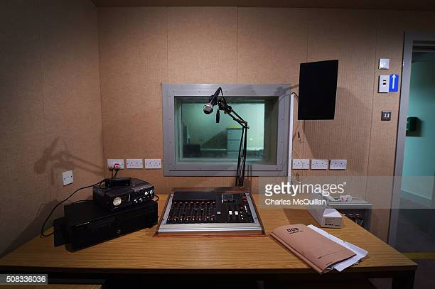 The emergency BBC braodcasting studio at a nuclear bunker site on the Woodside Road industrial estate on February 4 2016 in Ballymena Northern...