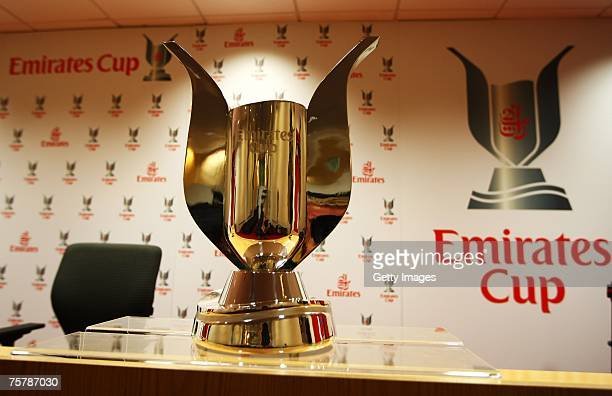 The Emirates Cup trophy prior to the Emirates Cup at the Emirates Stadium on July 27 2007 in London England