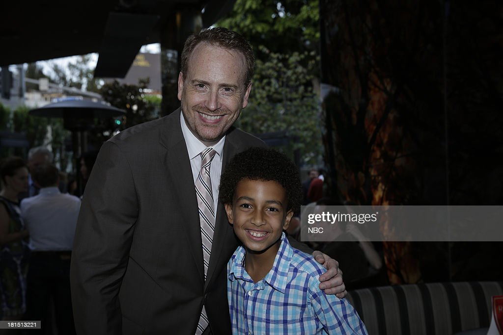 EVENTS -- 'The Emmy Party' -- Pictured: (l-r) Bob Greenblatt, Chairman, NBC Entertaiment, Tyree Brown from 'Parenthood' at Boa Steakhouse, September 21, 2013 --