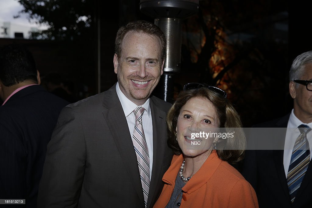 EVENTS -- 'The Emmy Party' -- Pictured: (l-r) Bob Greenblatt, Chairman, NBC Entertainment, Linda Lavin from 'Sean Saves the World' at Boa Steakhouse, September 21, 2013 --