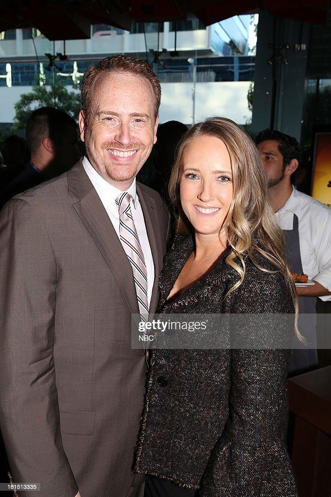 EVENTS -- 'The Emmy Party' -- Pictured: (l-r) Bob Greenblatt, Chairman, NBC Entertainment; Jennifer Salke, President, NBC Entertainment at Boa Steakhouse, September 21, 2013 --