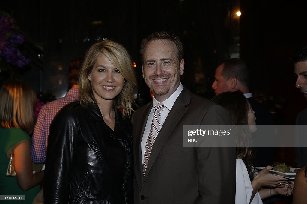 EVENTS -- 'The Emmy Party' -- Pictured: (l-r) Jenna Elfman from 'Growing Up Fisher'; Bob Greenblatt, Chairman, NBC Entertainment at Boa Steakhouse, September 21, 2013 --
