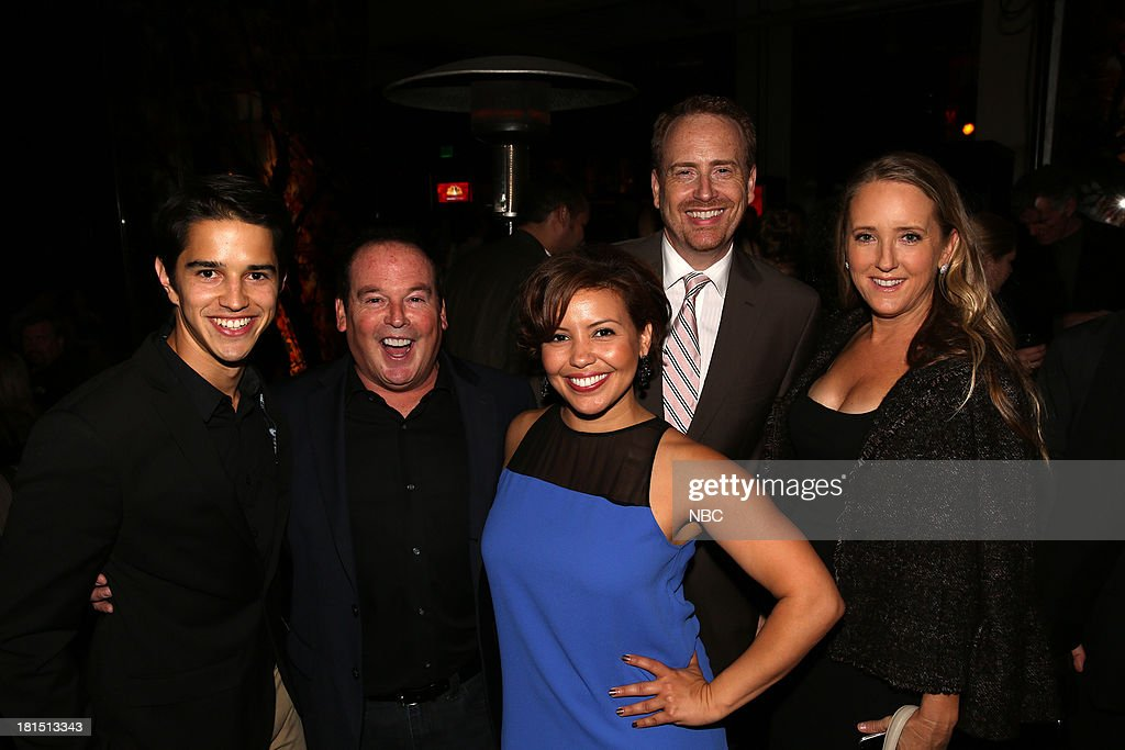 Joseph Haro from 'Welcome To The Family', David Janollari, Justina Machado from 'Welcome To The Family'; Bob Greenblatt, Chairman, NBC Entertainment; Jennifer Salke, President, NBC Entertainment at Boa Steakhouse, September 21, 2013 --