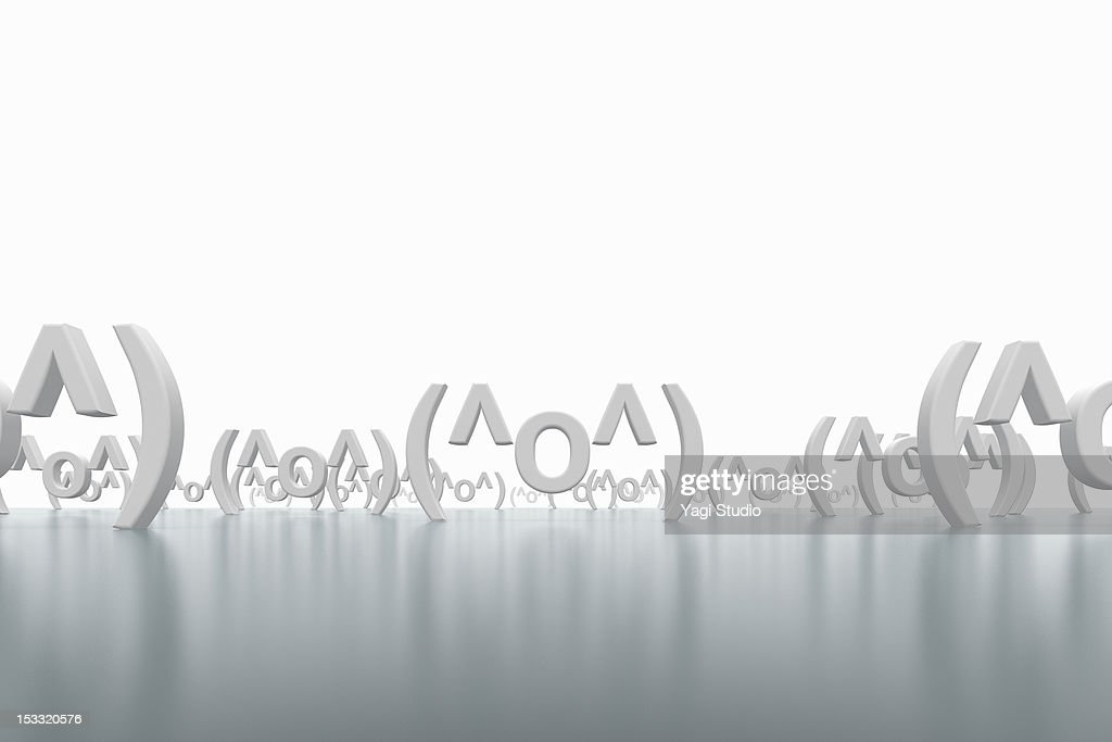 The emoticon of a lot of smiles : Stock Photo
