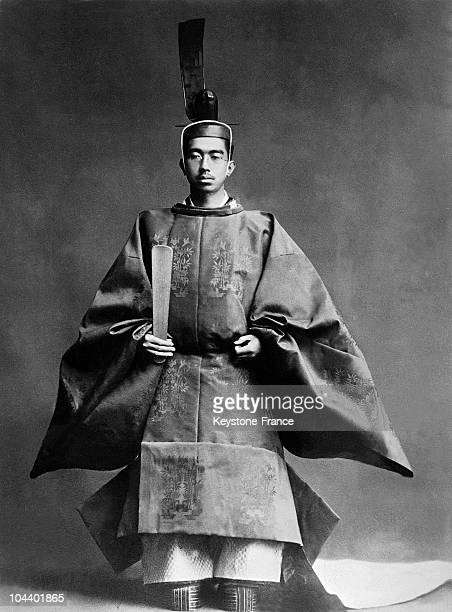 The emperor HIROHITO wearing the traditional costume after his official enthronement as emperor of the Japanese Empire