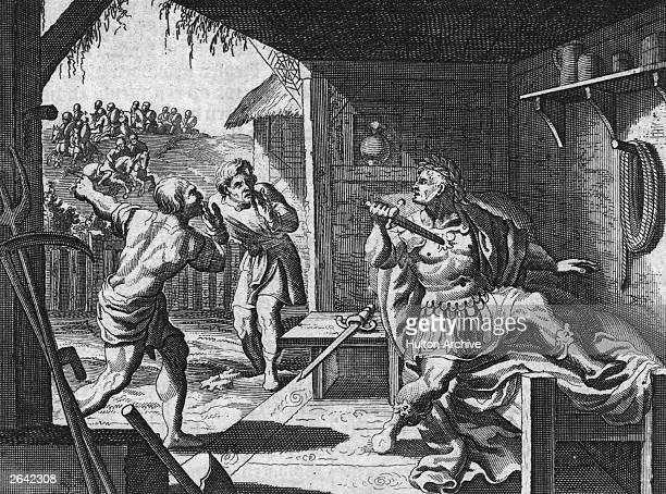 The Emperor Nero commits suicide with his own sword after the Roman army overruns the city 9th June 68 AD