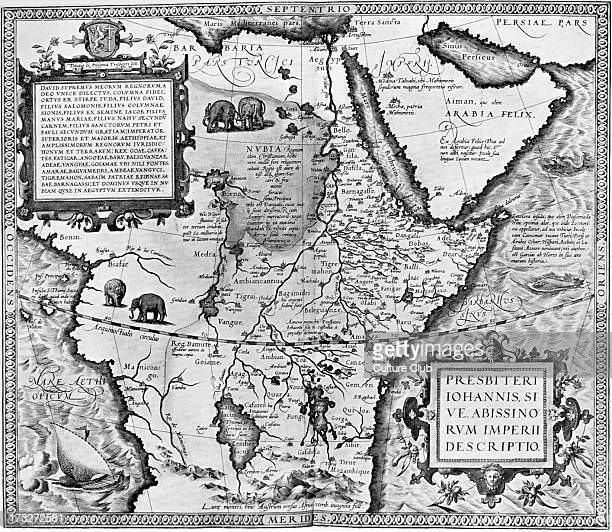 The Empire of Preseter John or Abyssinia map in 'Theatrum Orbis Tearrarum' by Abraham Ortelius 1573