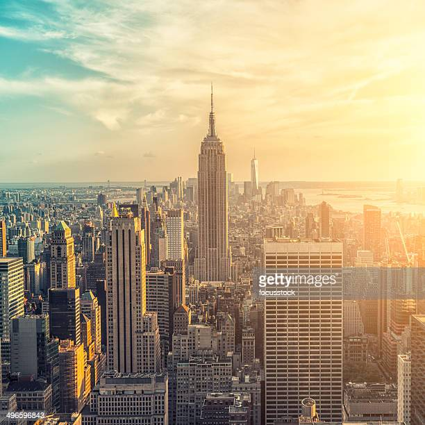 Das Empire State building und manhattan panorama in New York
