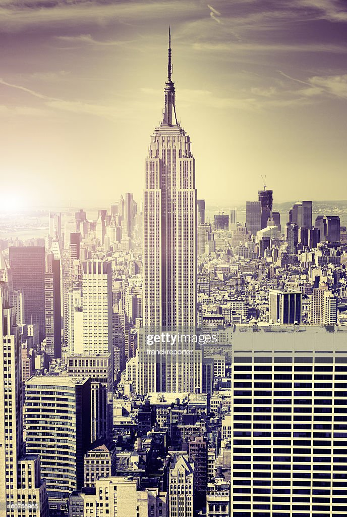 The Empire State building in NYC at sunset. : Stock Photo