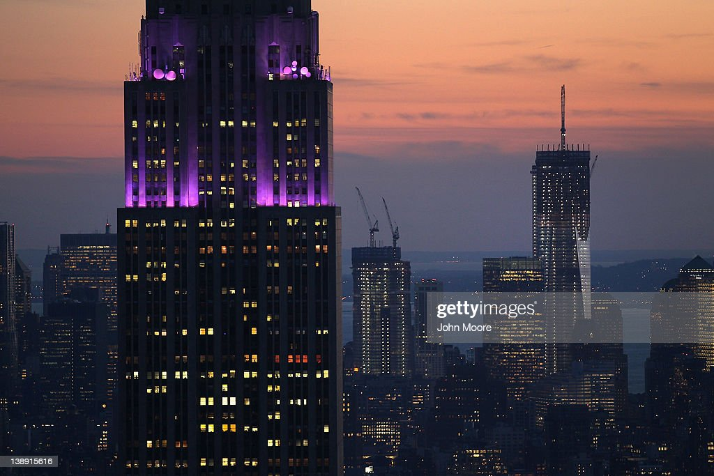 The Empire State Building (L), towers over the Manhattan skyline as the One World Trade Center building (R), stands downtown on February 13, 2012 in New York City. The owner of the Empire State Building, Malkin Holdings, plans to raise up to $1 billion in an initial public offering on the 102 story Manhattan landmark. The One World Trade Center building is due to be completed in 2013 and will be 105 stories, making it the tallest building in the Western Hemisphere.