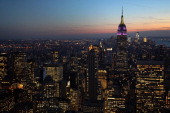 The Empire State Building towers over the Manhattan skyline on February 13 2012 in New York City The owner of the Empire State Building Malkin...