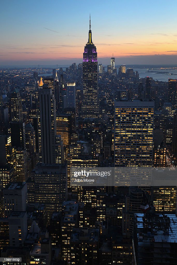 The Empire State Building towers over the Manhattan skyline on February 13, 2012 in New York City. The owner of the Empire State Building, Malkin Holdings, plans to raise up to $1 billion in an initial public offering on the 102 story Manhattan landmark.