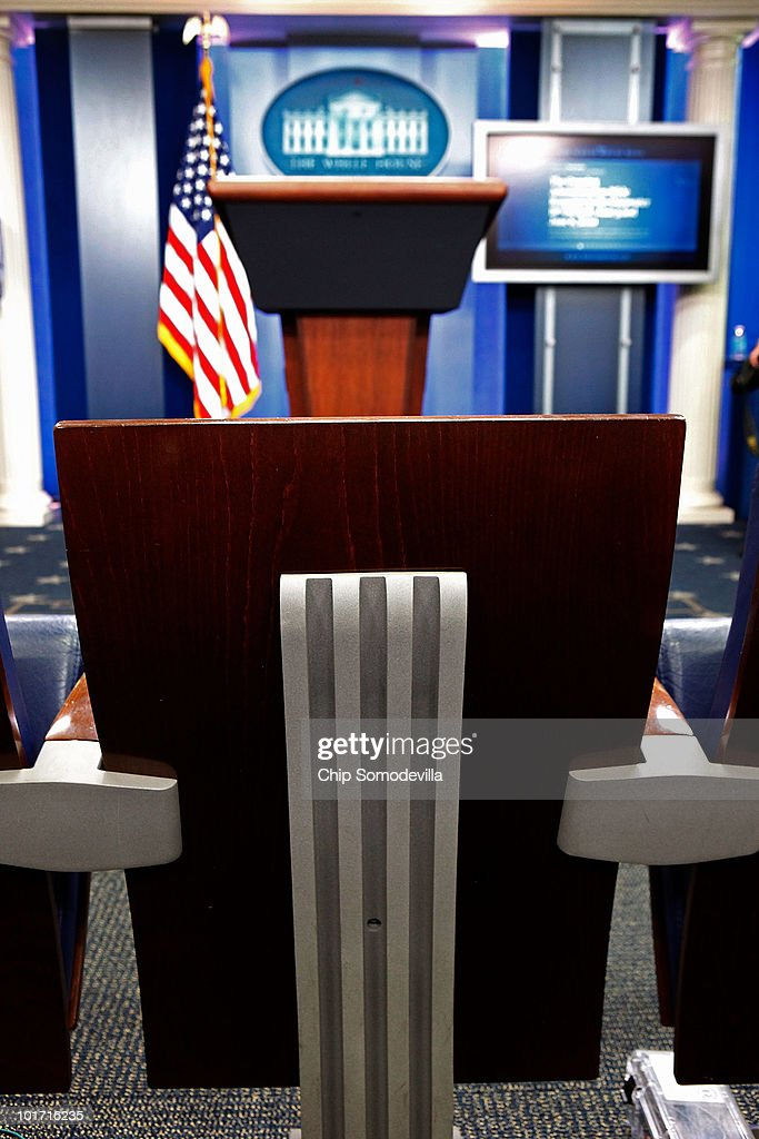 Front Row Of White House Press Room
