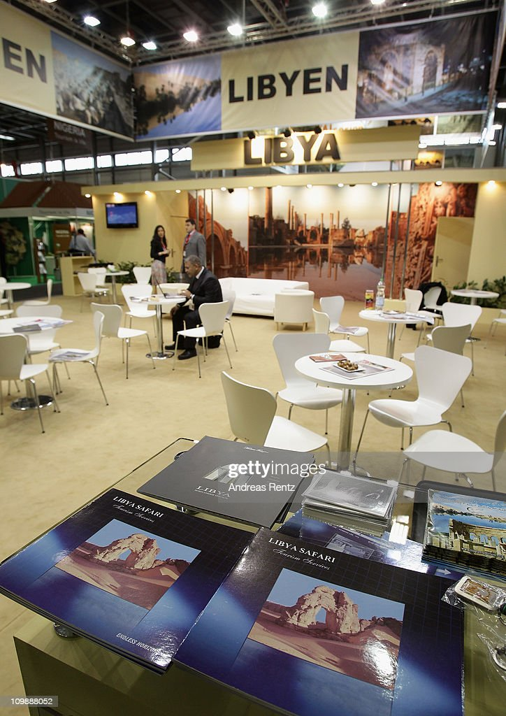 The empty Libya pavillion at the ITB International tourism trade fair is pictured on March 9 2011 in Berlin Germany The ITB runs from March 913