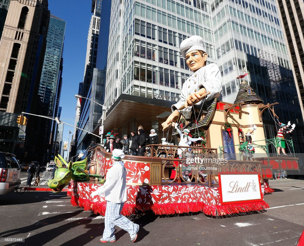 The Enchanting World of Lindt Chocolate Float featuring the Goo Goo Dolls in the 87th Annual Macy's Thanksgiving Day Parade on November 28, 2013 in New York City.