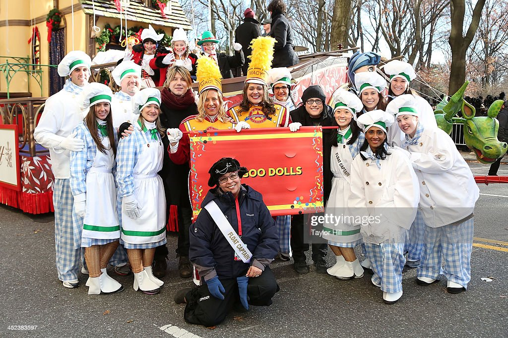 The Enchanting World of Lindt Chocolate float, showcasing the mastery of premium chocolate and featuring Goo Goo Dolls, joins the exclusive lineup of floats in the 87th Annual Macy's Thanksgiving Day Parade on November 28, 2013 in New York City.