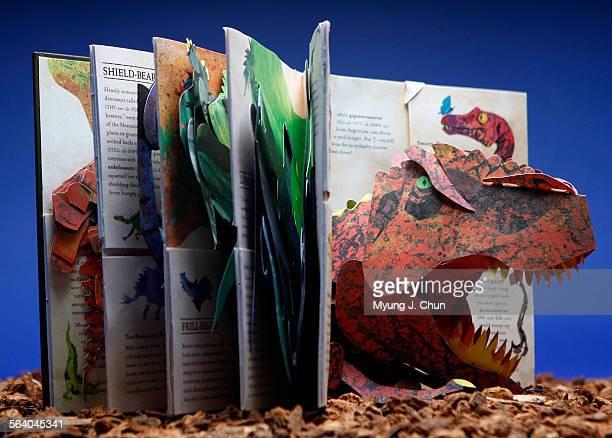 The Encyclopedia Prehistorica Dinosaurs pop–up book by Robert Sabuda and Matthew Reinhart Photo shot on Wednesday November 22 2006