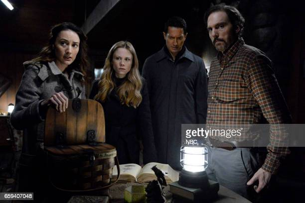 GRIMM 'The End' Episode 613 Pictured Bree Turner as Rosalee Calvert Claire Coffee as Adalind Schade Sasha Roiz as Sean Renard Silas Weir Mitchell as...