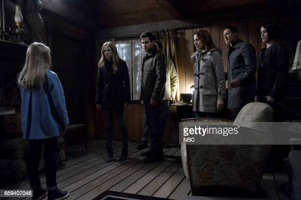 GRIMM 'The End' Episode 613 Pictured Claire Coffee as Adalind Schade David Giuntoli as Nick Burkhardt Bree Turner as Rosalee Calvert Sasha Roiz as...