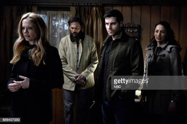 GRIMM 'The End' Episode 613 Pictured Claire Coffee as Adalind Schade Silas Weir Mitchell as Monroe David Giuntoli as Nick Burkhardt Bree Turner as...