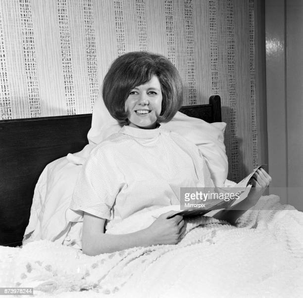 The end of a busy day and Cilla Black has an early night before leaving for Glasgow 18th February 1964